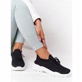 PS1 Damskie Sportowe Buty Sneakersy Czarne Ruler białe 4