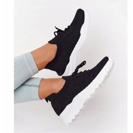 PS1 Damskie Sportowe Buty Sneakersy Czarne Ruler białe 5
