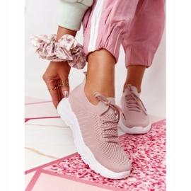 PS1 Damskie Sportowe Buty Sneakersy Różowe Ruler białe 6
