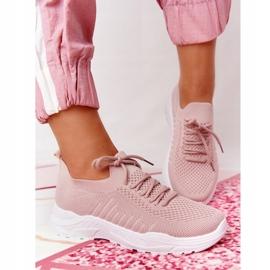 PS1 Damskie Sportowe Buty Sneakersy Różowe Ruler białe 1