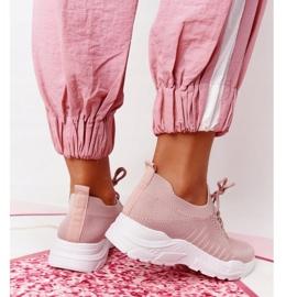 PS1 Damskie Sportowe Buty Sneakersy Różowe Ruler białe 3