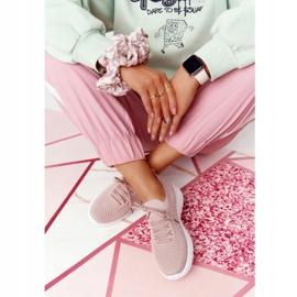 PS1 Damskie Sportowe Buty Sneakersy Różowe Ruler białe 4