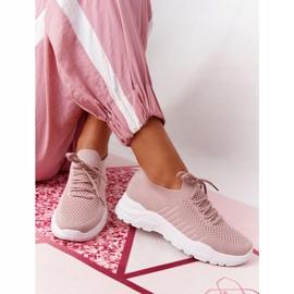 PS1 Damskie Sportowe Buty Sneakersy Różowe Ruler białe 5