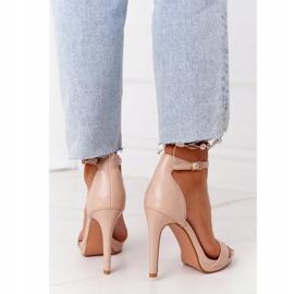 PG1 Eleganckie Sandały Na Szpilce Nude Glamour różowe 3