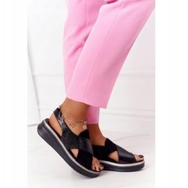Wsuwane Sandały Na Platformie Sergio Leone SK029 Czarne 3