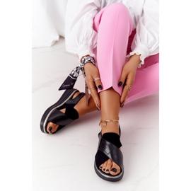 Wsuwane Sandały Na Platformie Sergio Leone SK029 Czarne 6
