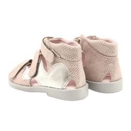 Sandałki wysokie profilaktyczne Mazurek 291 pink-silver różowe srebrny 2