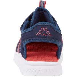 Buty dla dzieci Kappa Kyoko granatowo-pomarańczowe 260884K 6744 granatowe 4