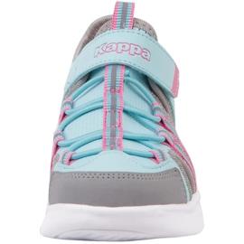 Buty dla dzieci Kappa Kyoko niebiesko-szare 260884K 6316 niebieskie różowe 3