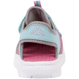 Buty dla dzieci Kappa Kyoko niebiesko-szare 260884K 6316 niebieskie różowe 4