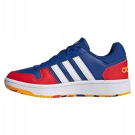 Buty adidas Hoops 2.0 Jr FY7016 granatowe niebieskie 1