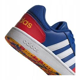 Buty adidas Hoops 2.0 Jr FY7016 granatowe niebieskie 2