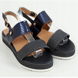 Sandałki damskie granatowe YQ16 Blue 1