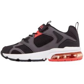 Buty dla dzieci Kappa Yero czarno-szaro-koralowe 260891K 1129 czarne czerwone szare 2