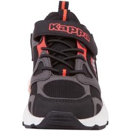 Buty dla dzieci Kappa Yero czarno-szaro-koralowe 260891K 1129 czarne czerwone szare 4