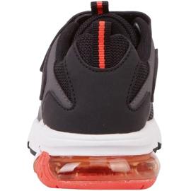 Buty dla dzieci Kappa Yero czarno-szaro-koralowe 260891K 1129 czarne czerwone szare 5