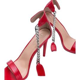 Czerwone sandały na szpilce Trenndy 1