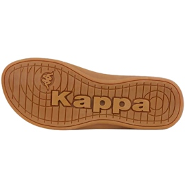 Klapki damskie Kappa Fayola beżowe 242980 4150 beżowy brązowe 3