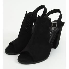 Sandałki na obcasie czarne 2B7L6897-3 Black 3