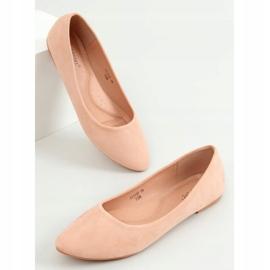 Baleriny gładkie zamszowe różowe CC212P Pink 3