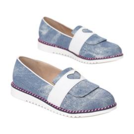 Vices 9015-12 L Blue 36 41 białe niebieskie 1