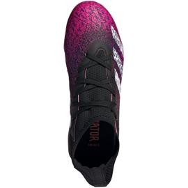 Buty piłkarskie adidas Predator Freak.3 Fg Jr FW7530 biały, czarny, różowy różowe 1