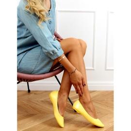 Baleriny gładkie lakierowane żółte CC201 Yellow 2