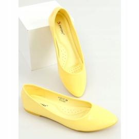 Baleriny gładkie lakierowane żółte CC201 Yellow 3