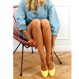 Baleriny gładkie lakierowane żółte CC201 Yellow 1