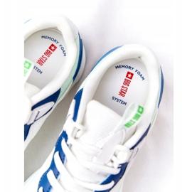 Damskie Sportowe Buty Memory Foam Big Star HH274810 Białe niebieskie zielone 5
