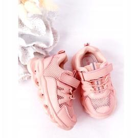 Dziecięce Sneakersy Ze Świecącą Podeszwą Led Różowe So Cool! 4