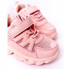 Dziecięce Sneakersy Ze Świecącą Podeszwą Led Różowe So Cool! 2