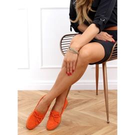 Mokasyny damskie klasyczne pomarańczowe 3394 Orange 2