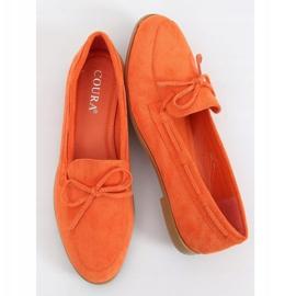 Mokasyny damskie klasyczne pomarańczowe 3394 Orange 1