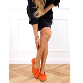 Mokasyny damskie klasyczne pomarańczowe 3394 Orange 3
