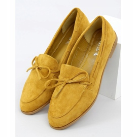 Mokasyny damskie klasyczne musztardowe 3394 Yellow żółte 1