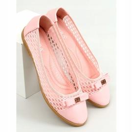 Baleriny ażurowe różowe 1378 Pink 3