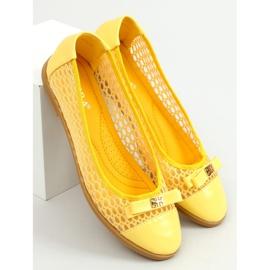 Baleriny ażurowe żółte 1378 Yellow 3