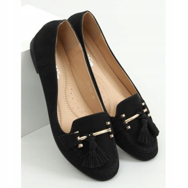 Mokasyny damskie czarne 99-08A Black 3