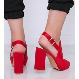 Czerwone sandały na słupku Pimp 1