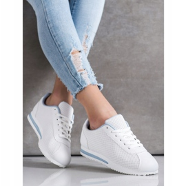 SHELOVET Stylowe Ażurowe Sneakersy białe 2