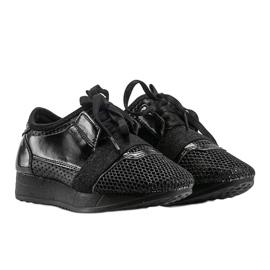 Czarne sneakersy dziecięce Kelli 1