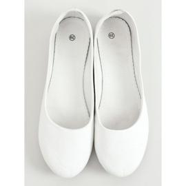 Balerinki damskie białe JX38 White 3
