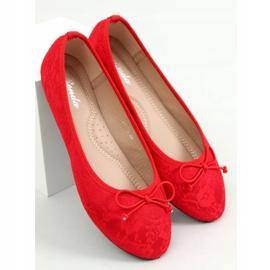 Baleriny koronkowe czerwone DY-12 Red 3