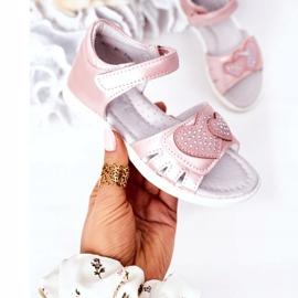 PE1 Dziecięce Sandałki Na Rzep Różowe My Heart 3