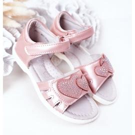 PE1 Dziecięce Sandałki Na Rzep Różowe My Heart 2