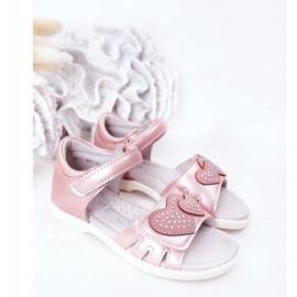 PE1 Dziecięce Sandałki Na Rzep Różowe My Heart 1