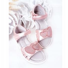 PE1 Dziecięce Sandałki Na Rzep Różowe My Heart 4