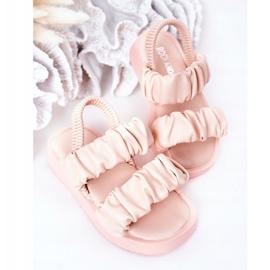 FR1 Dziecięce Sandały Ze Ściągaczem Różowe Sweetness 4