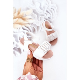 FR1 Dziecięce Sandały Na Rzep Białe Aimy 3